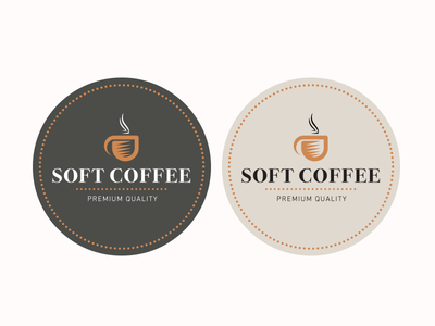 Soft Coffee labels label beans drinks symbol shape icon cup coffee