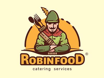 Robin Food Logo logo illustration robinhood cheese catering restaurant food artwork