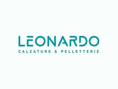 Leonardo brandrefresh shoes typography graphics design logo