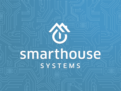 Smarthouse Logo system roofs roof button construction house lighting electrician electricity smart home smarthouse