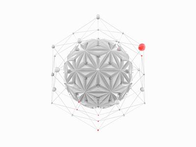 eXelentex motion red clean minimal white illustration cinema4d c4d sphere 3d animation 3d art 3d