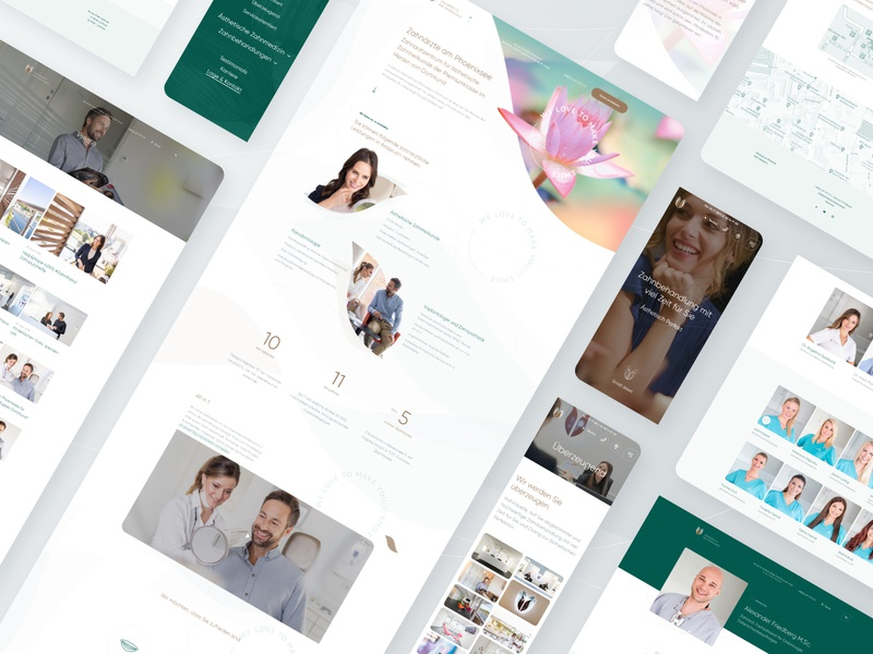 Zahnärzte am Phönixsee light dental website design medical clean dental clinic web design ux website ui landing page