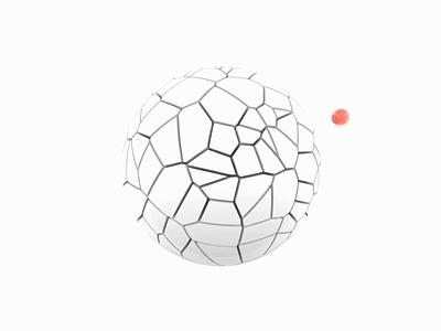 eXelentex clean 3d art minimal red illustration motion artwork art white animation sphere graphic design c4d 3d