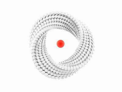 eXelentex 3d illustration graphic design artwork 3d object sphere white clean red visual art motion minimal illustration 3d art c4d 3d animation 3d