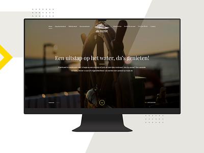 Jan Plezier website web design ux ui trip shipowner ship meal home food boat