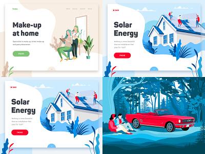 Our Top 4 Shots of 2018 on Dribbble web design ui website concept graphics interface illustration dribbble top4shots