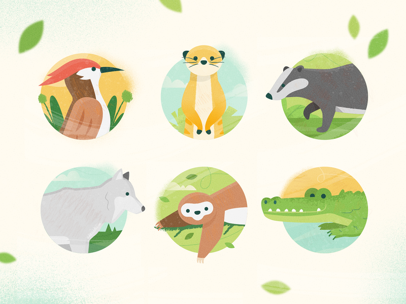 Animal avatars relax virus spot illustration product illustration product sticker icon application design application pandemic covid19 animal ux ui texture flat drawing character vector illustration