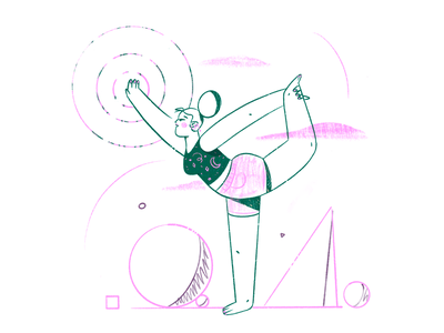 Spread positivity 🤸‍♀️ simplicity geometry positivity creativity sports yoga procreate characterdesign