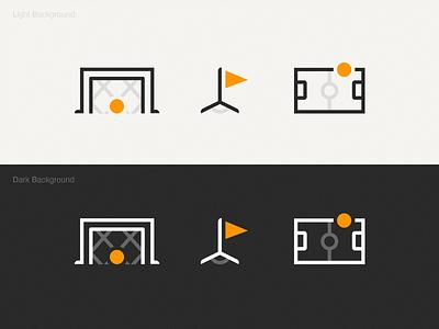 Football ball game football typography simplicity simple icon design gradient linework application app branding logo icon ux ui texture flat vector illustration