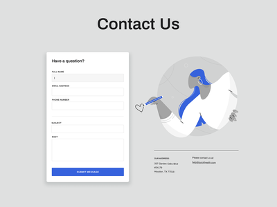 Contact us question write hair monochrome person form email pencil contact icon girl woman ux ui texture flat drawing character vector illustration