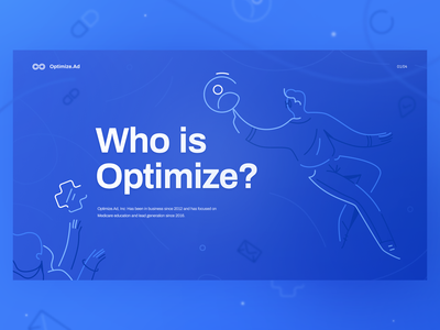 Who is Optimize fluid medicare slide deck presentation floating lineart linework man icon girl woman ux ui texture flat drawing character vector illustration