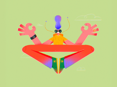 👌 trippy contrast pose outfit glasses person caricature procreate character design character illustration vector drawing