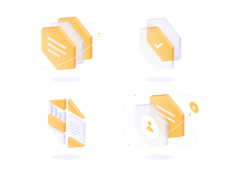 Transparent subtle simple webdesign ux ui isometric isometry hexagon gradient transparent vector icon
