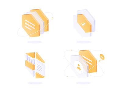 Transparent subtle simple webdesign ux ui isometric isometry hexagon gradient transparent vector icon