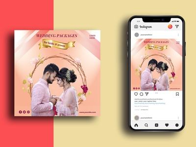 Social Media Post Template married couple exclusive clean couple set couple gift party wedding banner design banner ads social media design psd media instagram post instagram marketing advertisement advert