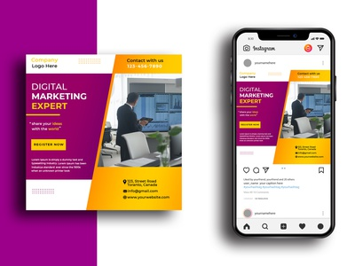 Corporate Social Media Post Template template modern social media clean banner business digital marketer digital marketing expert digital corporate design media instagram post instagram psd marketing advertisement advert ad ads