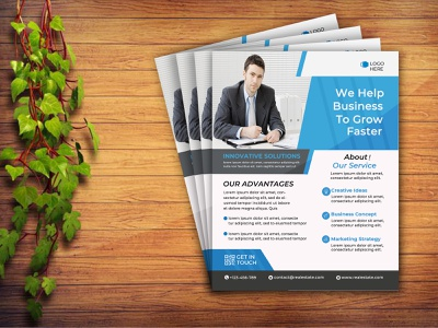 Business Flyer template strategy marketing strategy business growth media flyer design design digital marketing digital clean modern flyer corporate flyer corporate business flyer business psd marketing advertisement advert