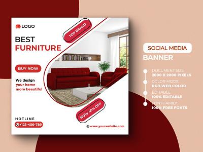 Social Media Post Template template offer promo discount instagram post sofa furniture advertising ads banner design banner social media post social media instagram design psd media marketing advertisement advert