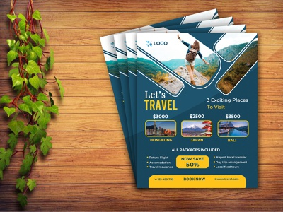 Travel Flyer Design template psd trip marketing beautiful site travel agent agency travel agency tourism tour design eye-catching fresh clean modern travel flyer design travel flyer travel flyer design flyer