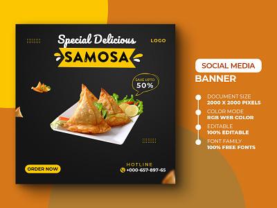 Food Social Media Post Template template psd instagram post instagram banner design banner advertising ads yummy yummy menu restaurant spicy delicious food social media media design marketing advertisement advert