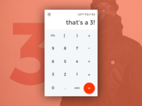 Daily UI #4 – Calculator