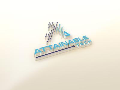 ATTAINABLE TECH illustration design logo branding graphic design tech logo