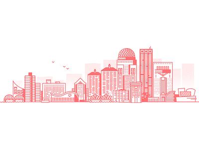 Louisville downtown whisky bourbon city flat 2d vector design illustration churchill derby ky kentucky louisville