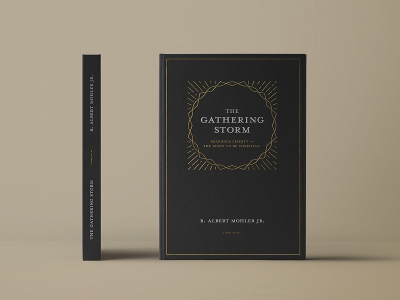 The Gathering Storm thorns clean letterpress paperback booklet thunder shine crown storm white black hardback cover editorial book typography gold illustration vector design
