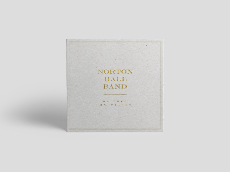 Norton Hall Band - Two Albums church norton hall albums leaflet letterpress engravers typography gold cardboard foil mockup disc cd sleeve cd music worship christian emboss