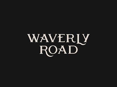 Waverly Road - Type design symbol lock-up monogram branding font street logo logotype vintage waverly rd road pizza pseudo-brand wave kentucky louisville type typography
