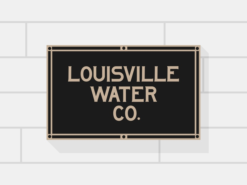 Louisville Water Co. - Type south engraved sign kentucky louisville company co. water century lettering type vintage logotype font branding typography pseudo-brand color