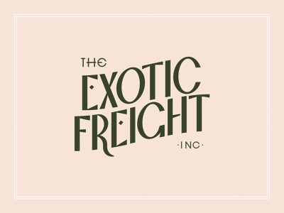 Exotic Freight - Type inc exotic time the classic branding pseudo-brand typeface custom font typography type old vintage title movie noir film theater