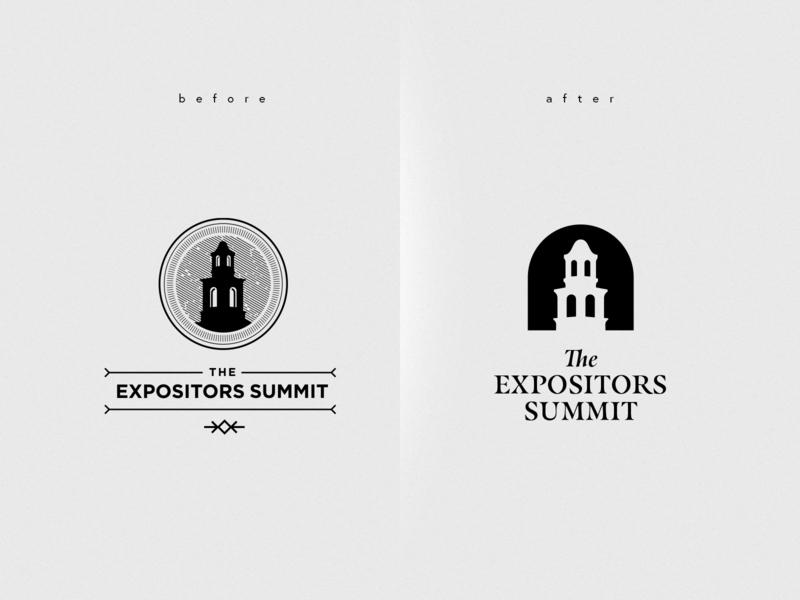 Expositors Summit Rebrand - Final emblem badge design typography royal blue monogram seal e summit year gold family crest shield plant nature leaf
