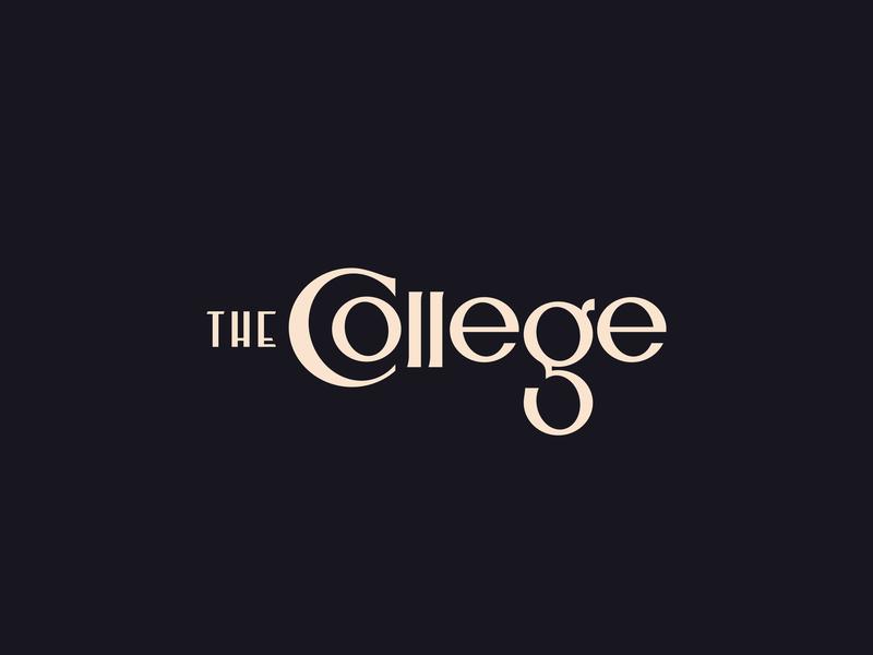 The College - Type lettering vintage deco the university college logotype typography font pseudo-brand logo brand branding type