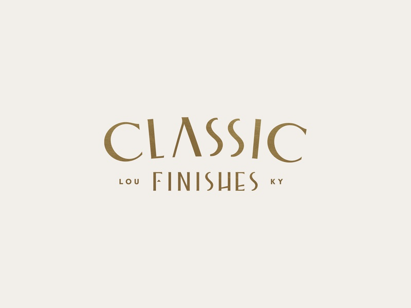 Classic Finishes - Type kentucky louisville gold monogram classic type branding brand logo pseudo-brand font typography logotype college university the deco vintage lettering