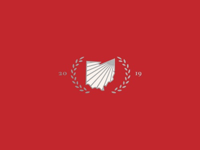 Northeastern Ohio Event - Unused Logo northeastern northeast summit leadership state silver white shine year 2019 leaf ohio state buckeye red ohio logo branding