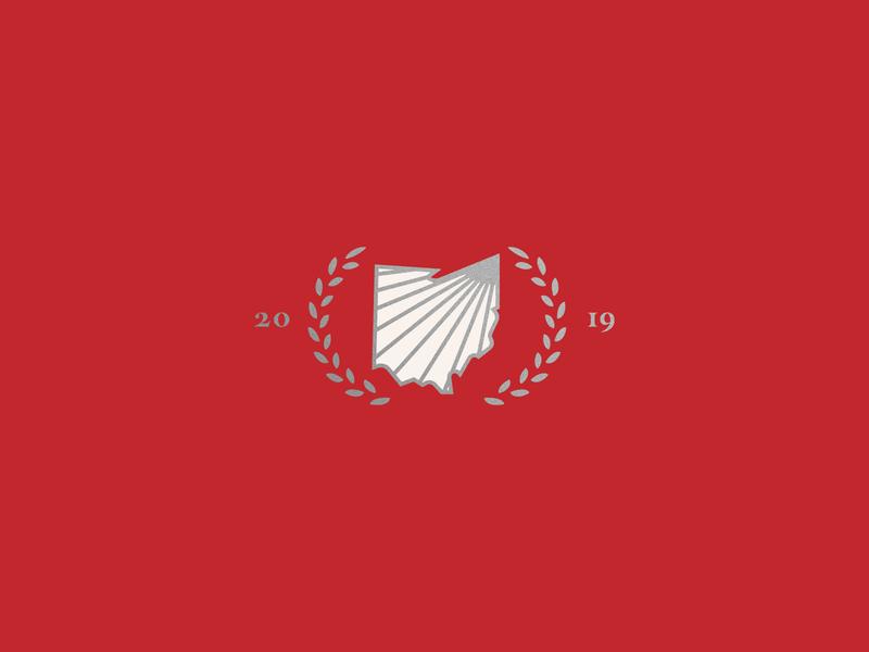 Northeastern Ohio Event - Unused Logo northeastern northeast summit leadership state silver white shine year 2019 leaf ohio state buckeye red ohio logo branding