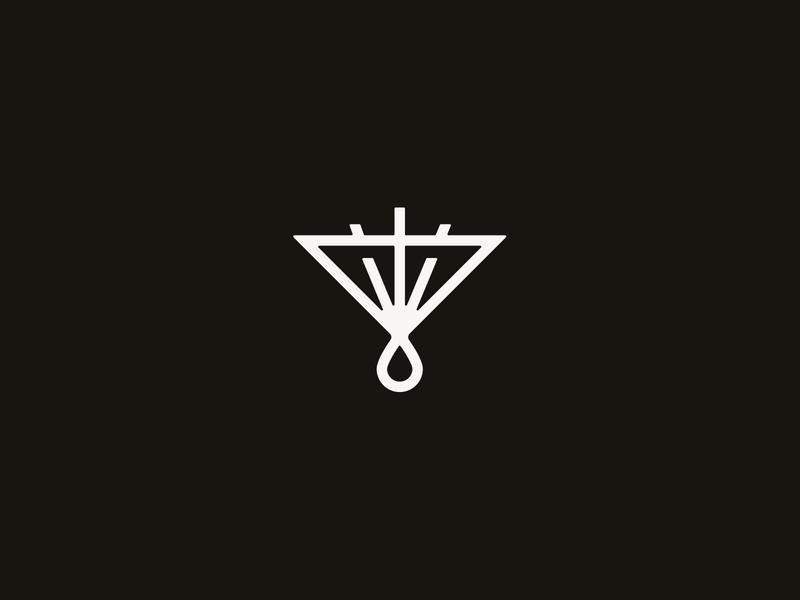 Cross Emblem christian line white black shine church sacrifice blood drop triangle trinity three crosses branding shield logo emblem cross