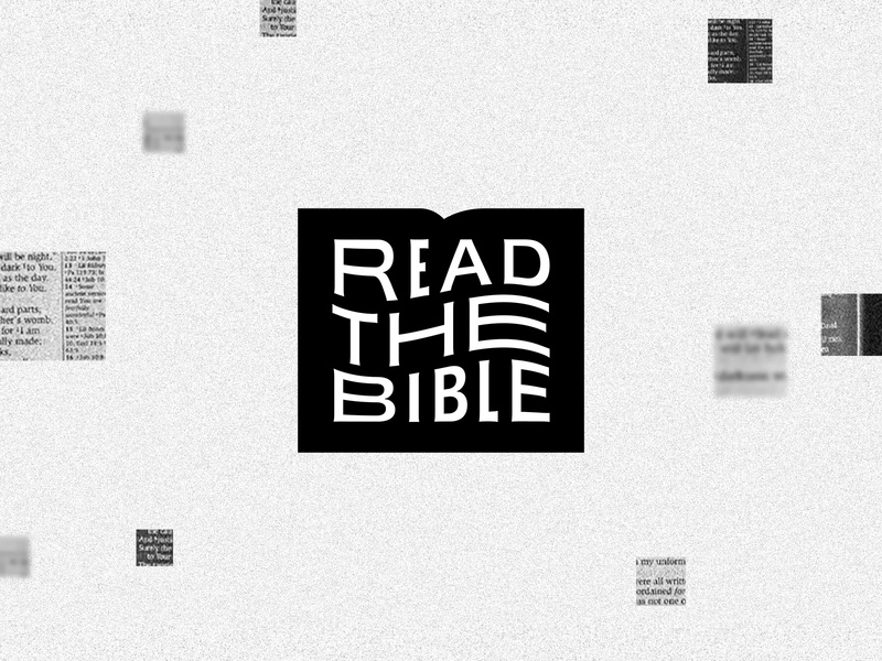 Read the Bible noise grain white black pieces logo branding podcast app read reading yearly year plan scripture the coalition bible gospel tgc