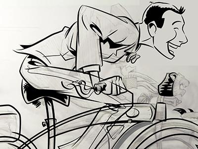 You're the best bike in the whole world. love bicycle bike reubens paul adventure big herman pee-wee