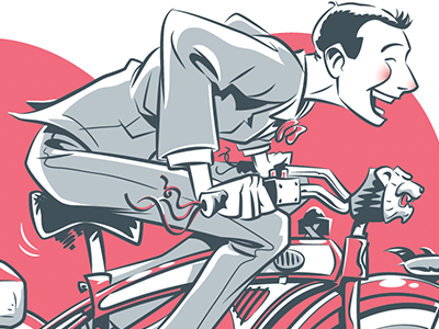 I'm a loner, Dottie. A rebel. burton tim adventure big grey red bicycle bike herman wee pee