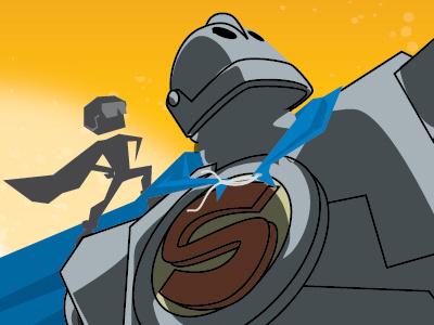 Iron Giant composition sketch hughes hogarth superman giant iron