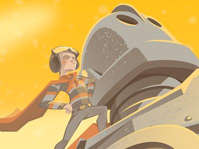 Iron Giant hughes hogarth superman giant iron