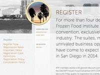AFFI-CON 2014 Register page