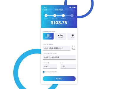 Daily UI 002 - Credit Card Checkout ui mobile credit card checkout creditcard purple blue dailyui