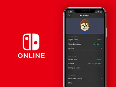 Daily UI 007 - Settings mii nintendo online ios app design settings page ui mobile red switch nintendo dailyui007 dailyui