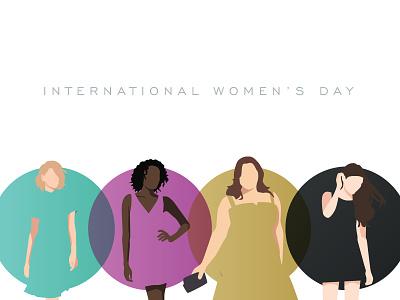 International Womens Day fashion people illustration print cmyk international womens day design women