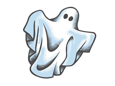 Grungy ghost white haunted tattoo grunge halloween sheet blue ghost