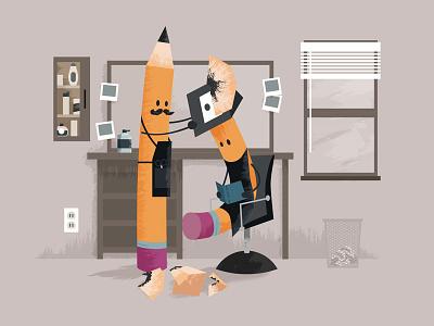 The Pencil Sharpener ticonderoga yellow illustration vector inspiration idea pencil
