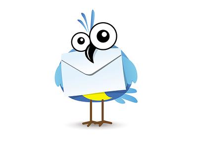 Birdie debut character vector mascot bird cartoon